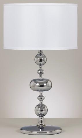 Raschel Chrome Metal Table Lamp Set of 2