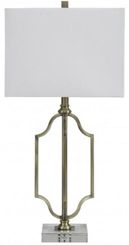 Arabela Antique Brass Metal Table Lamp