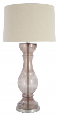 Light Gray Glass Table Lamp
