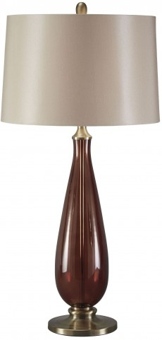 Sandera Amber Glass Table Lamp