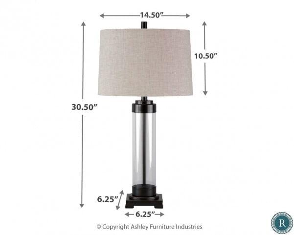 Talar Bronze Glass Table Lamp