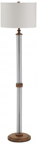 Tabby Clear and Natural Glass Floor Lamp
