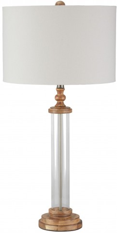 Tabby Clear and Natural Glass Table Lamp