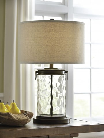 Tailynn Clear and Bronze Glass Table Lamp