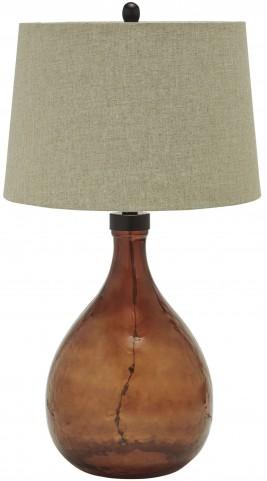 Arayna Brown Glass Table Lamp