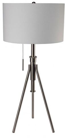 Zaya Extendable Silver Table Lamp