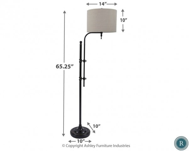 Anemoon Black Metal Floor Lamp