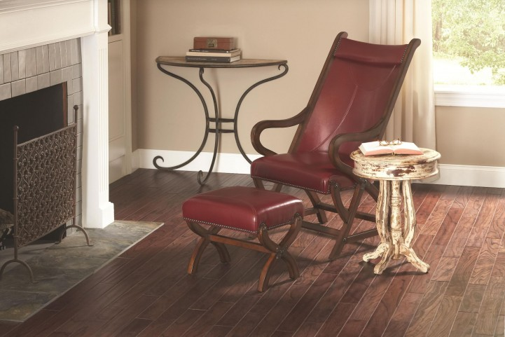 Hunter Cherry Chair & Ottoman