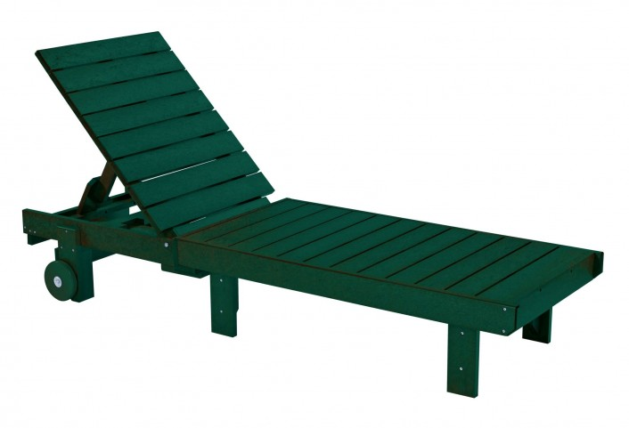 Generations Green Chaise Lounge with wheels