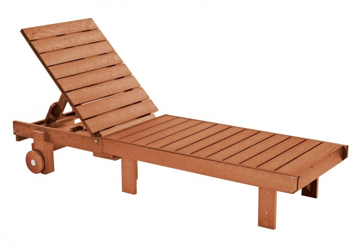 Generations Cedar Chaise Lounge with wheels