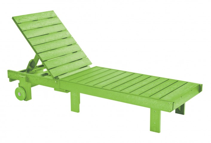 Generations Kiwi Lime Chaise Lounge with wheels