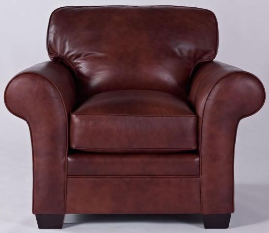 Zachary Leather Bark Top Grain Leather Chair