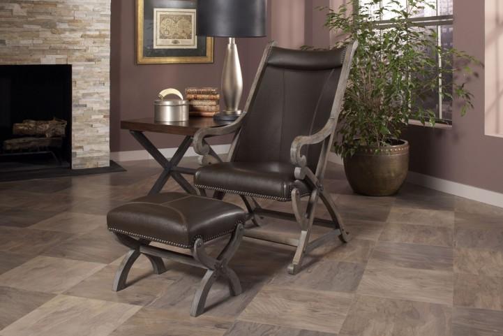 Hunter Brown Chair & Ottoman