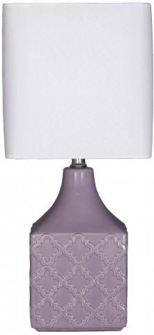 Simmone Purple Ceramic Table Lamp
