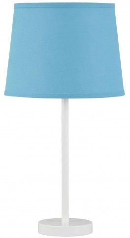 Shonie Teal & White Metal Table Lamp