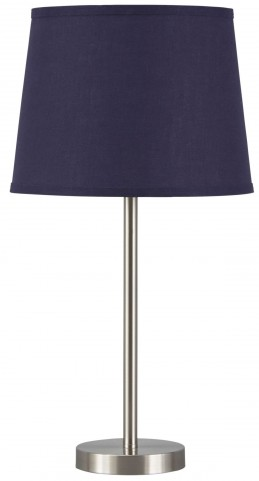 Shonie Navy & Silver Metal Table Lamp