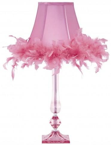 Auren Pink Acrylic Table Lamp
