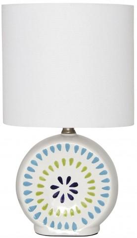 Auroretta Blue and Green Ceramic Table Lamp