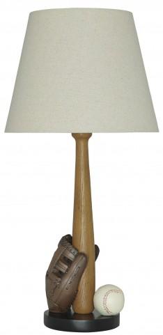Avidan Brown and Cream Poly Table Lamp