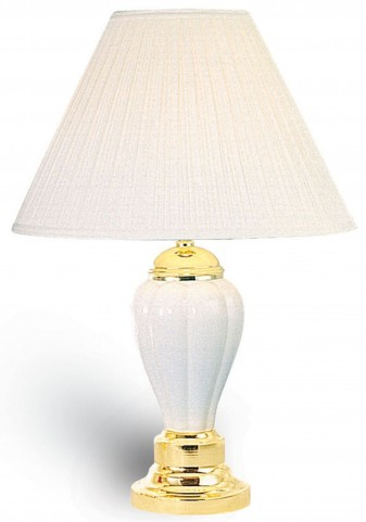 Acme Ceramic Ivory Table Lamp Set of 6