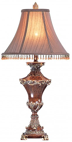 Selma Faux-Wood Table Lamp Set of 2