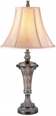 Vera Sterling Silver Table Lamp Set of 2