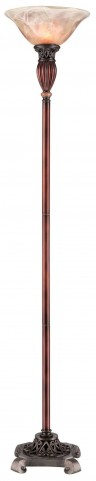 Luna Glossy Brown Torchiere Lamp