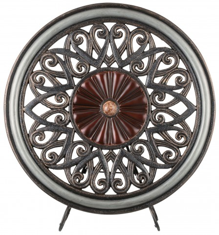 Luna Glossy Brown Decorative Charger Set of 2