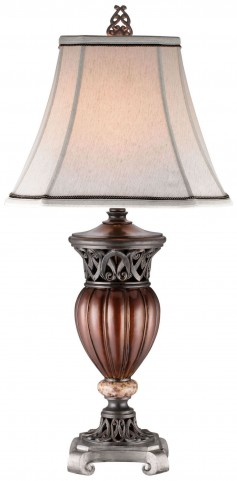 Luna Glossy Brown Table Lamp Set of 2