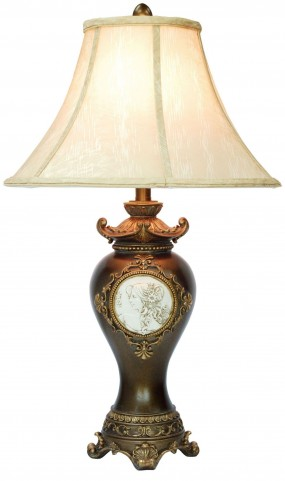 Sophia Golden Trims Table Lamp Set of 2
