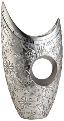 Farrah Mirror Strips Trim Decorative Vase Set of 4