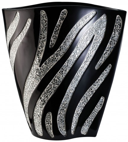 Stacey Glossy Black Decorative Vase Set of 4