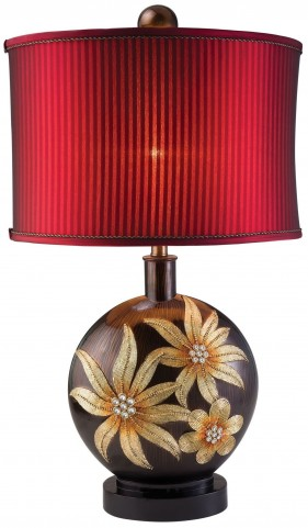 Jacqueline Glossy Wooden Table Lamp