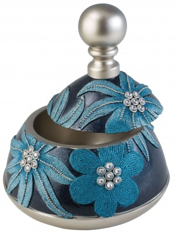 Felicia Shimmery Navy Blue Decorative Box Set of 4