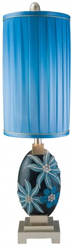 Felicia Shimmery Navy Blue Table Lamp Set of 4