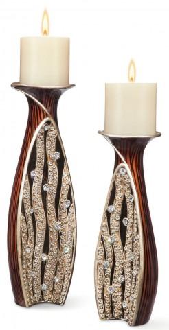 Velma Wooden Candle Holder Set of 4