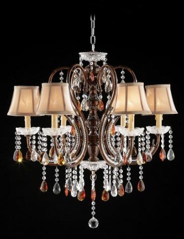 Juliet Golden Brown Hanging Crystal Ceiling Lamp