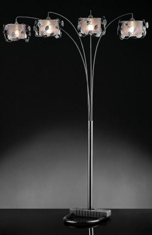 Elva Chrome Double shade Arch Lamp