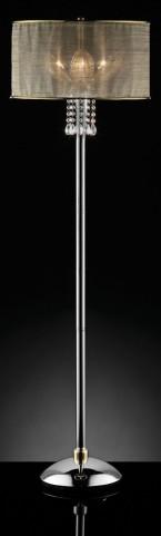 Gladys Glass Petal Hanging Crystal Floor Lamp