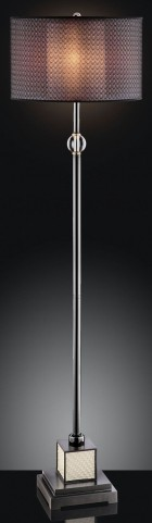 Magda Black Chrome Floor Lamp