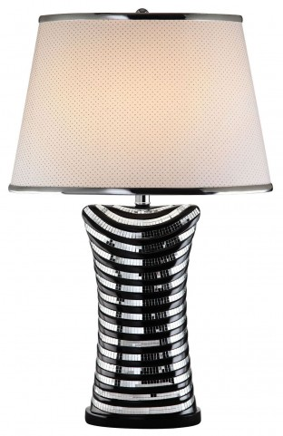 Mona Glossy Black Table Lamp Set of 2