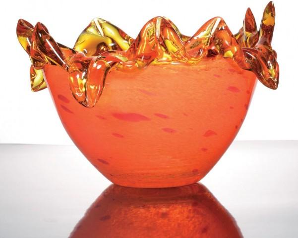 Zuri Fiery Orange Decorative Bowl Set of 2
