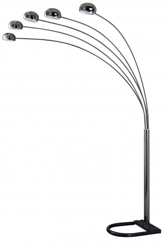 "Glora Black and Chrome 86"" Arch Lamp"