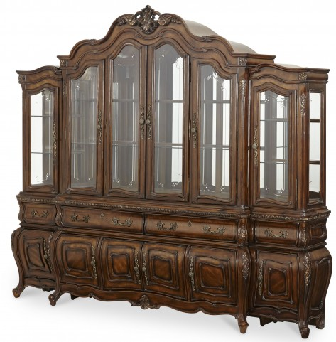 Lavelle Melange China Cabinet with Piers