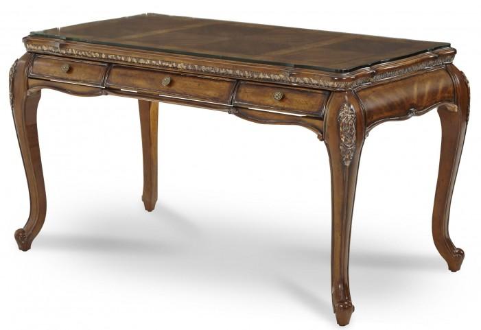 Lavelle Melange Desk With Glass Top