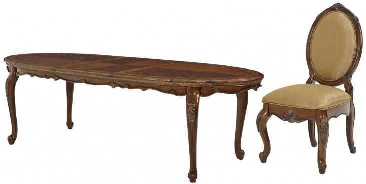 Lavelle Melange Oval Extendable Leg Dining Room Set