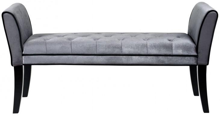 Chatham Gray Velvet Bench