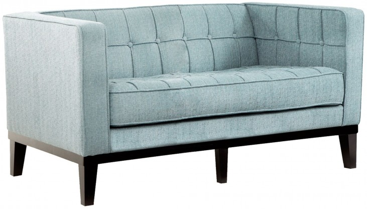 Roxbury Spa Blue Fabric Loveseat