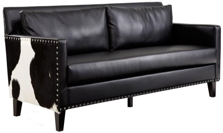 Dallas Black Leather Loveseat
