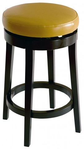 "Mbs-450 26"" Wasabi Bonded Leather Backless Swivel Barstool"
